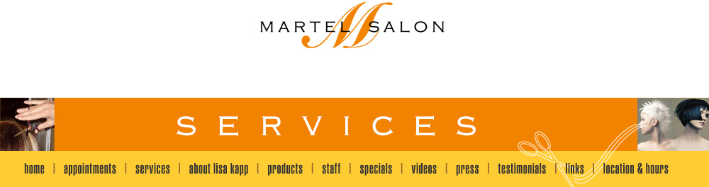 martel salon services